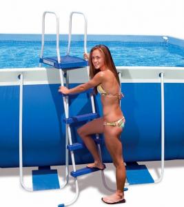 Лестница для бассейна Intex 132 см с площадкой 28063