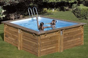 Квадратный деревянный бассейн 300x300х119 см CARRA GRE 790093
