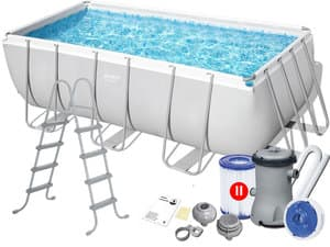 Каркасный бассейн Bestway 56456 412х201х122 Rectangular Power Steel Frame