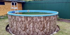 Сборный бассейн ЛАГУНА 54912 круглый 549х125 см (природный камень)