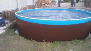 Сборный бассейн ЛАГУНА 54914 круглый 549х125 см (темное дерево)