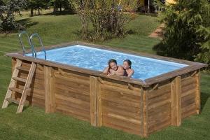 Прямоугольный деревянный бассейн 400x250х119 см MARBELLA GRE 790096