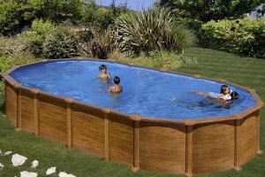 Каркасный бассейн GRE KITPR7388WOMAG овальный 730x375x132 см