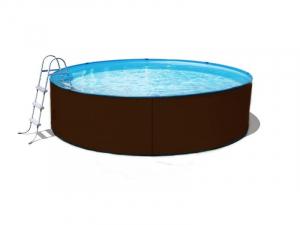 Сборный бассейн ЛАГУНА 24410 круглый 244х125 см (платина)
