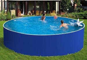 Сборный бассейн ЛАГУНА 45717 круглый 457х125 см (синий)
